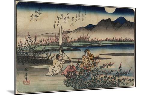 Jewel River of Noji in Omi Province, 1835-1837-Utagawa Hiroshige-Mounted Giclee Print