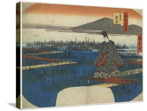 Ariwara No Narihira, Early 19th Century-Utagawa Hiroshige-Stretched Canvas Print