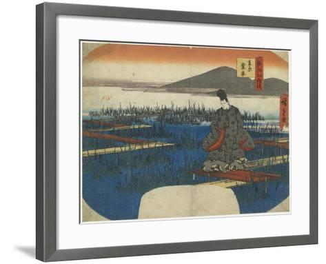 Ariwara No Narihira, Early 19th Century-Utagawa Hiroshige-Framed Art Print