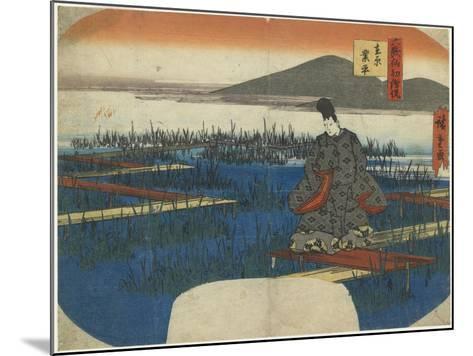 Ariwara No Narihira, Early 19th Century-Utagawa Hiroshige-Mounted Giclee Print