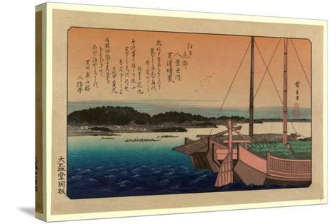 Shibaura No Seiran-Utagawa Hiroshige-Stretched Canvas Print