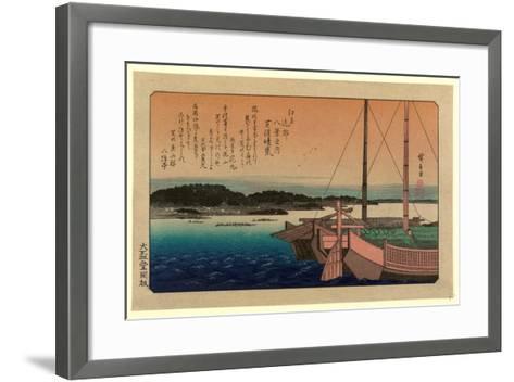 Shibaura No Seiran-Utagawa Hiroshige-Framed Art Print