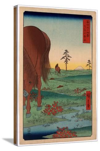 Shimosa Koganehara-Utagawa Hiroshige-Stretched Canvas Print