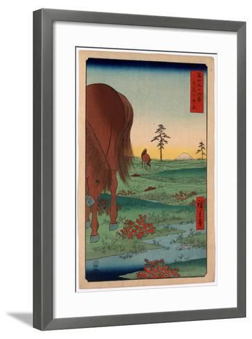 Shimosa Koganehara-Utagawa Hiroshige-Framed Art Print