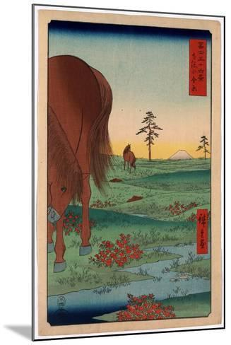 Shimosa Koganehara-Utagawa Hiroshige-Mounted Giclee Print
