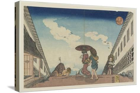 Kasumigaseki, 1830-1837-Utagawa Kuniyoshi-Stretched Canvas Print