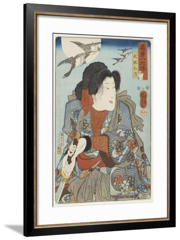Inuzaka Keno, C. 1852-Utagawa Kuniyoshi-Framed Art Print