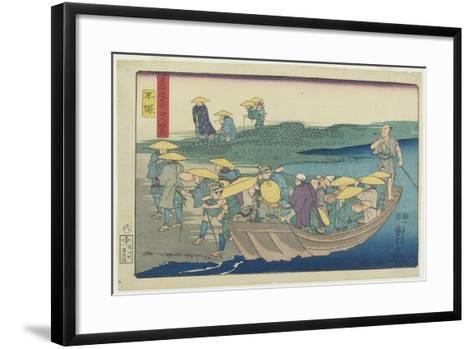 Hiratsuka, 1847-1852-Utagawa Kuniyoshi-Framed Art Print