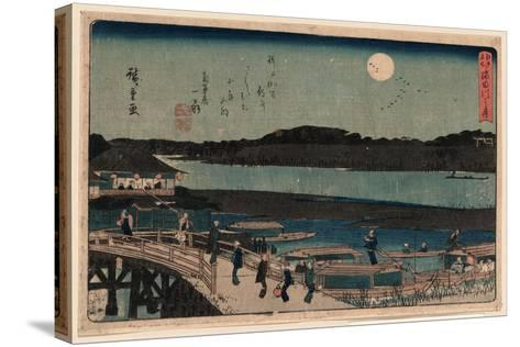 Sumida Gawa No Tsuki-Utagawa Hiroshige-Stretched Canvas Print