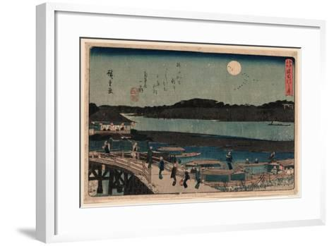Sumida Gawa No Tsuki-Utagawa Hiroshige-Framed Art Print