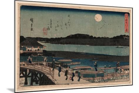 Sumida Gawa No Tsuki-Utagawa Hiroshige-Mounted Giclee Print