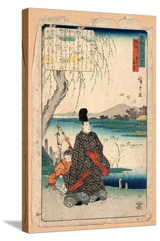 Sumidagawa Miyakodori No Koji-Utagawa Hiroshige-Stretched Canvas Print