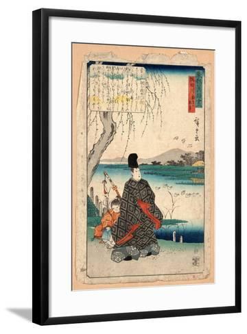 Sumidagawa Miyakodori No Koji-Utagawa Hiroshige-Framed Art Print
