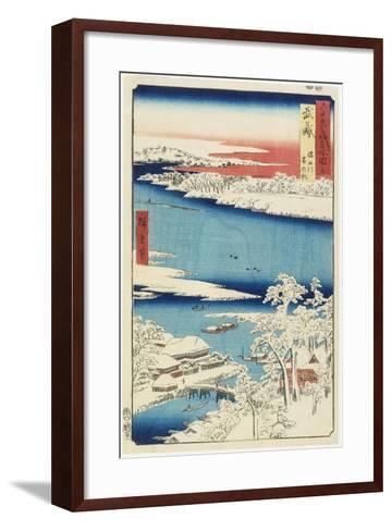 Morning after Snow at Sumida River in Musashi Province, August 1853-Utagawa Hiroshige-Framed Art Print