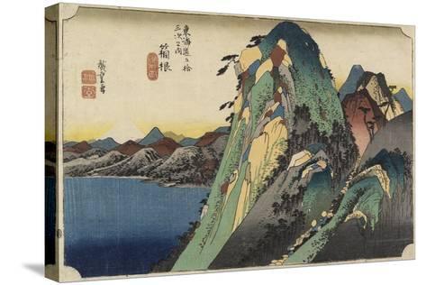 View of the Lake, Hakone, C. 1833-Utagawa Hiroshige-Stretched Canvas Print