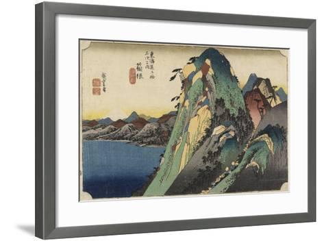 View of the Lake, Hakone, C. 1833-Utagawa Hiroshige-Framed Art Print
