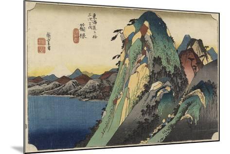 View of the Lake, Hakone, C. 1833-Utagawa Hiroshige-Mounted Giclee Print