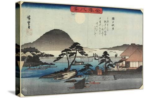 Autumn Moon at Seto, C. 1835-1836-Utagawa Hiroshige-Stretched Canvas Print
