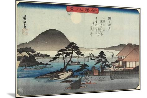 Autumn Moon at Seto, C. 1835-1836-Utagawa Hiroshige-Mounted Giclee Print