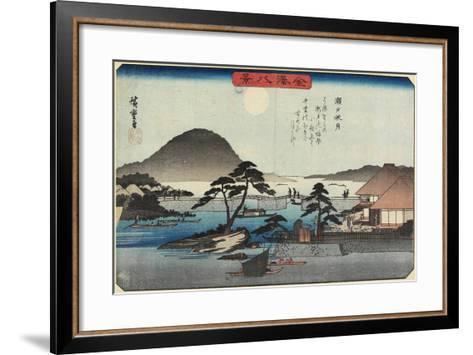 Autumn Moon at Seto, C. 1835-1836-Utagawa Hiroshige-Framed Art Print