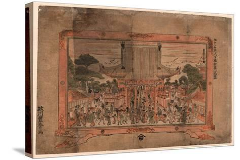 Kennyuhsan No Zu Ni-Utagawa Toyoharu-Stretched Canvas Print