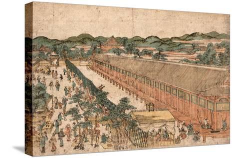 Kyoto Sanjusangendo No Zu-Utagawa Toyoharu-Stretched Canvas Print