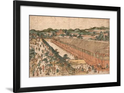 Kyoto Sanjusangendo No Zu-Utagawa Toyoharu-Framed Art Print