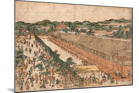 Kyoto Sanjusangendo No Zu-Utagawa Toyoharu-Mounted Giclee Print