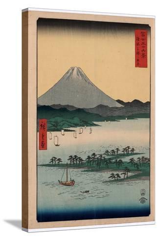 Suruga Miho No Matsubara-Utagawa Hiroshige-Stretched Canvas Print