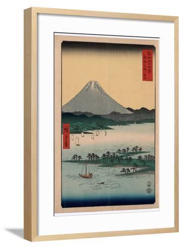 Suruga Miho No Matsubara-Utagawa Hiroshige-Framed Art Print