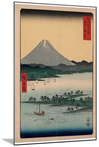 Suruga Miho No Matsubara-Utagawa Hiroshige-Mounted Giclee Print