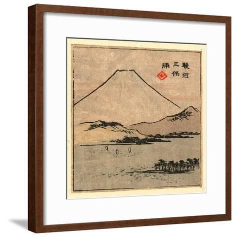 Suruga Miho No Ura-Utagawa Hiroshige-Framed Art Print