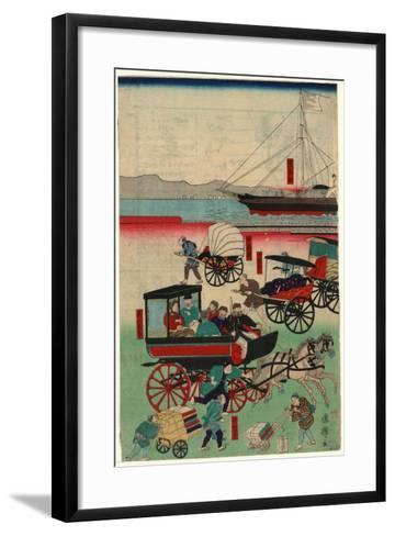 Atarashii Norimono-Utagawa Kuniteru-Framed Art Print