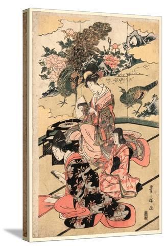 Daimyo No Okuzashiki-Utagawa Toyohiro-Stretched Canvas Print