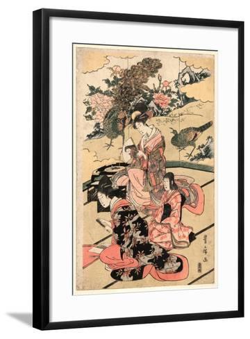 Daimyo No Okuzashiki-Utagawa Toyohiro-Framed Art Print