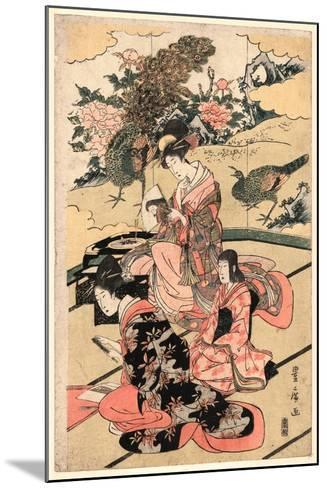 Daimyo No Okuzashiki-Utagawa Toyohiro-Mounted Giclee Print
