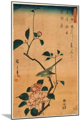 Tsubaki Ni Uguisu-Utagawa Hiroshige-Mounted Giclee Print