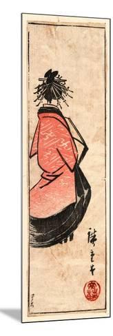 Ushiro Muki Oiran Zu-Utagawa Hiroshige-Mounted Giclee Print