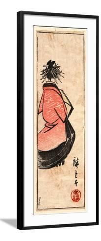 Ushiro Muki Oiran Zu-Utagawa Hiroshige-Framed Art Print