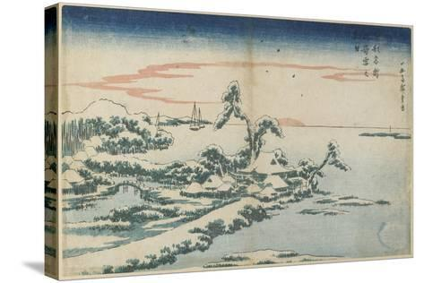 New Year's Day Sunrise at Susaki in Snow, Mid 19th Century-Utagawa Hiroshige-Stretched Canvas Print