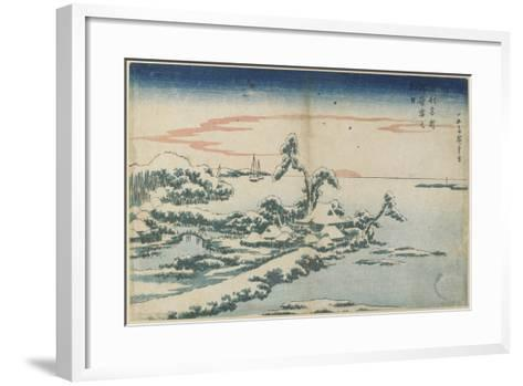 New Year's Day Sunrise at Susaki in Snow, Mid 19th Century-Utagawa Hiroshige-Framed Art Print