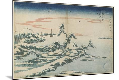 New Year's Day Sunrise at Susaki in Snow, Mid 19th Century-Utagawa Hiroshige-Mounted Giclee Print