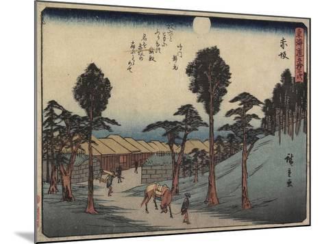 Akasaka, 1837-1844-Utagawa Hiroshige-Mounted Giclee Print