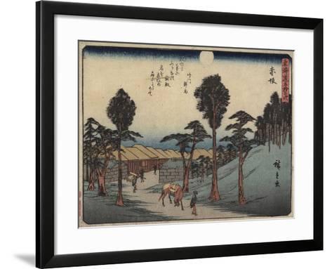 Akasaka, 1837-1844-Utagawa Hiroshige-Framed Art Print