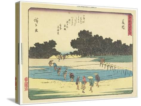 Fujieda, 1837-1844-Utagawa Hiroshige-Stretched Canvas Print
