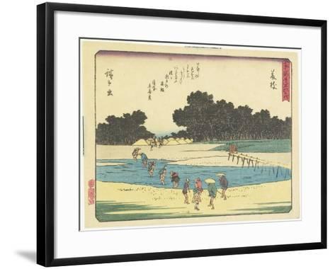 Fujieda, 1837-1844-Utagawa Hiroshige-Framed Art Print