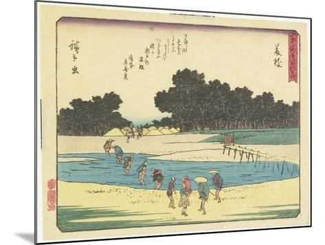 Fujieda, 1837-1844-Utagawa Hiroshige-Mounted Giclee Print