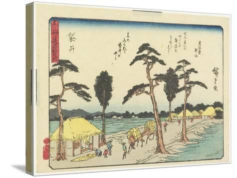 Fukuroi, 1837-1844-Utagawa Hiroshige-Stretched Canvas Print