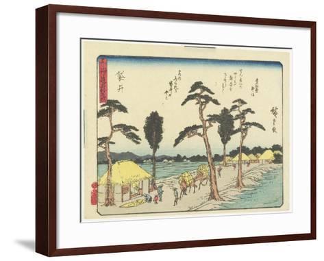 Fukuroi, 1837-1844-Utagawa Hiroshige-Framed Art Print