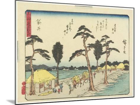 Fukuroi, 1837-1844-Utagawa Hiroshige-Mounted Giclee Print